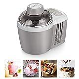 Máquina For Hacer Helados, 2-en-1No Pre-congelación, Yogurt Helado Maker For Gelato, Yogurt Helado Y Sorbete, Con El Compresor 90W, 600 Ml Máquina De Aluminio Ice Bowl Con Cuchara For Hielo Y Cesta