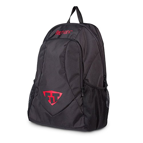 Fitmark Victory Rucksack mit abnehmbarer, isolierter Tasche für Mahlzeiten, BPA-freie Portionskontrolle, wiederverwendbare Kühlakkus, Schwarz