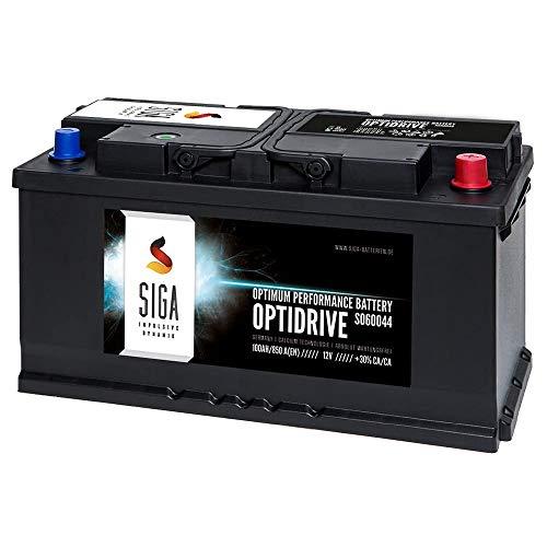 SIGA Autobatterie 100AH 12V 850A/EN - ersetzt 88Ah 92Ah 95Ah Batterie