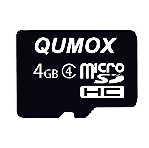 QUMOX 4 GB 4 GB Micro SD HC SDHC Veloce Memoria Carta Classe 4 TF