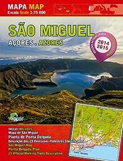 Mapa/Map - São Miguel - Açores/Azores