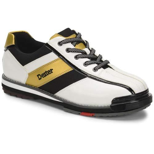 Dexter Mens SST 8 Pro Bowling Shoes- White/Black/Gold...