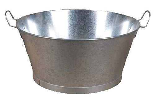 Cubos y Barreños Barreño Galvanizado de Zinc (10 litros)