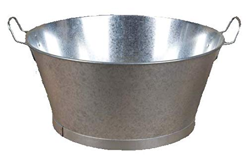 Cubos y Barreños Barreño Galvanizado de Zinc (22 litros)