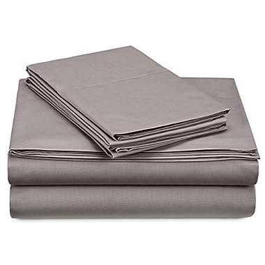 Pinzon 300-Thread-Count Percale Sheet Set - California King, Platinum