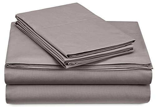 Pinzon 300 Thread Count Percale Cotton Sheet Set - Twin XL, Platinum