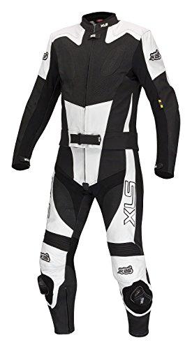 XLS Black White Arrow Lederkombi in Kurzgröße 26 (52) schwarz weiß