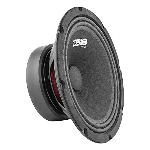"DS18 PRO-GM8.4 Loudspeaker - 8"", Midrange, Black Steel Basket, 580W Max, 190W RMS, 4 Ohms - Premium Quality Audio Door Speakers for Car or Truck Stereo Sound System (1 Speaker)"
