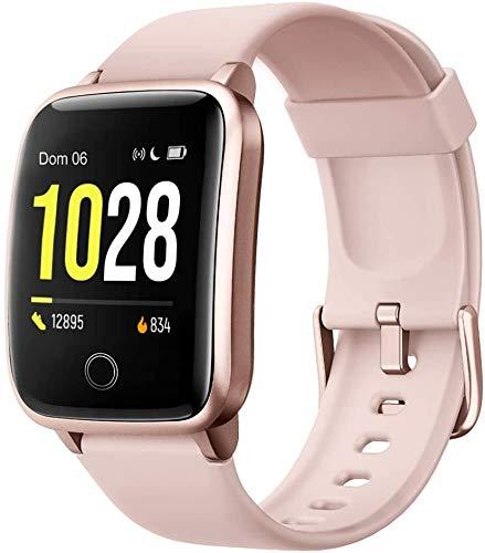 Montre Connectée Femmes,Montre Intelligente Homme IP68Etanche Bracelet Connecté Cardio Podometre Smartwatch Sport...