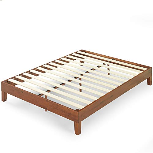 Zinus Wen 12 Inch Deluxe Wood Platform Bed Frame / Solid Wood / Mattress Foundation with Wood Slat Support / No Box Spring Needed / Easy Assembly, King