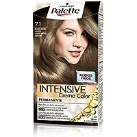 Palette Intense - Tono 7.1 Rubio Medio Ceniza - Coloración Permanente - Schwarzkopf