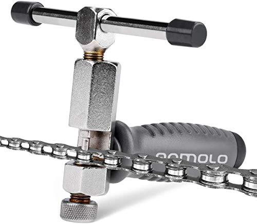Qomolo Bike Chain Tool, Universal Bike Chain Remover Tool Bike Chain Splitter 1 to 11 Speed Bike Chain Breaker, Bicycle Chain Cutter Repairing Removal Tool