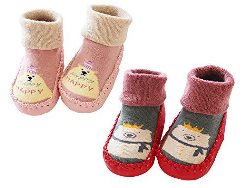 Baby Socken Hüttenschuhe Anti Rutsch Babysocken kinder Baumwolle Socken Lieblich Cartoon 0-36 Monate PKRD2-S