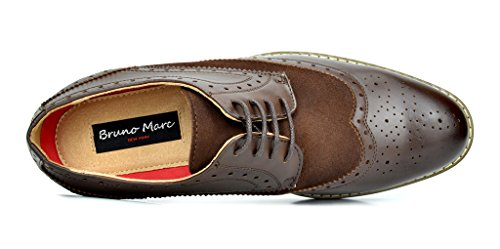 Bruno Marc Men's Dress Shoes Wingtip Oxford Prince-09 Dark Brown 10.5 M US