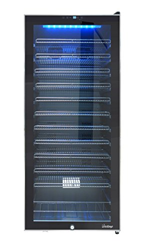 Vinotemp VT-100TSSB Freestanding CEC 99-Bottle Touch Screen Wine Cooler, Black