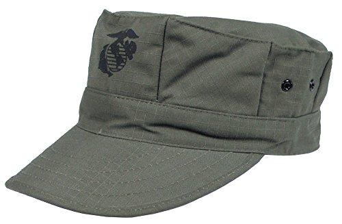 Gorra de estilo marine americano, color verde - verde oliva, tamaño M