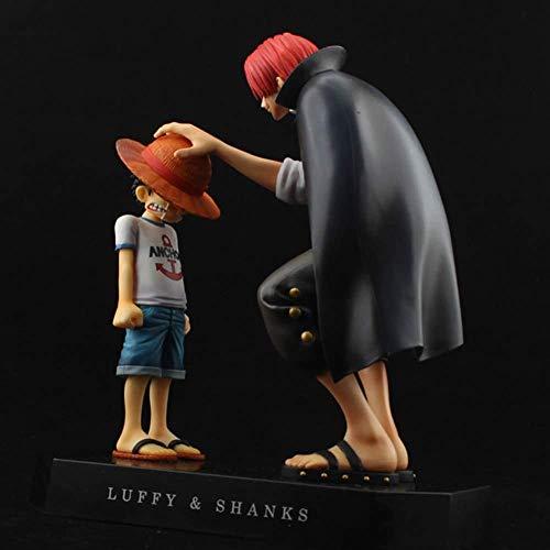 UanPlee-SC Geschenk 17,5 cm Action-Figuren Anime Strohhut Ruffy Armreifen Rot Haarschmuck Geschenk Puppe Spielzeug Kind Ruffy Modelle PVC Sammlung
