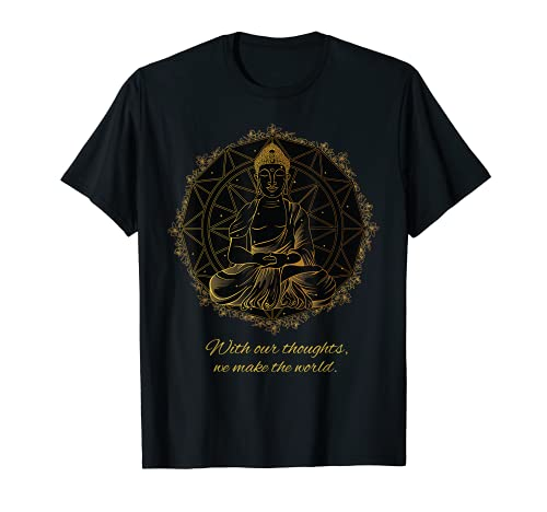 Buddha Zitat Mandala Gedanken Thoughts T-Shirt