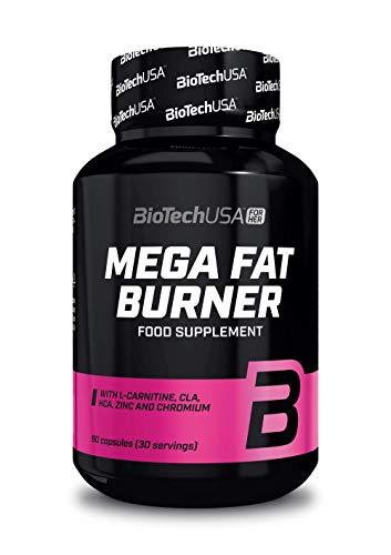 BioTech USA Mega Fat Burner Confezione da 1 x 90 Capsule - Brucia Grassi - Carnitina - CLA - HCA - Zinco - Cromo - Vitamine e Minerali - Estratto di Pepe Nero - Dimagrante - Controllo del Peso