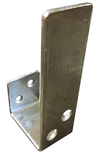 2x4 Bar Holder for Door Security Barricade with Open Drop Top Slim Mount Galvanized