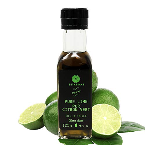 Bitarome Pure Lime Oil - 125mL (4.23 oz) | All natural, Add Lime Flavour When Baking or Cooking, Essential Aromatherapy Oil, No Additives, Vegan