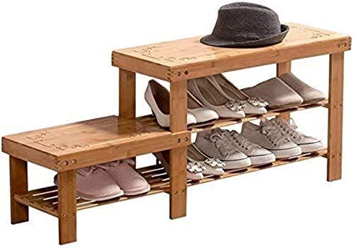 QZMX Estante de Zapatos Armarios de Zapatos, Zapatero a Prueba de Polvo de Madera Maciza for Uso doméstico Simple Economía Estante
