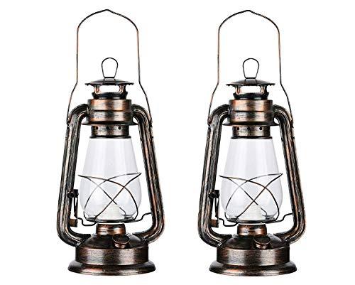 Paquete de 2 lámparas de aceite vintage rústico con foco LED Edison con acabado en bronce oxidado regulable para mesita de noche de escritorio para habitación de estudio de...