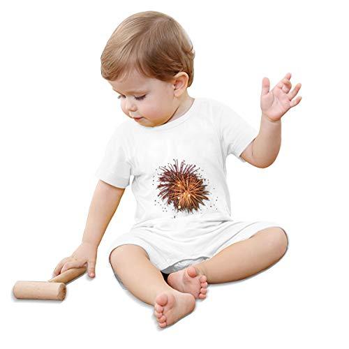EINST Bebé Bebé Manga Corta Fuegos Fuego Png 24 Transparencia Mono Peleles Cortos Traje Blanco blanco 2 años
