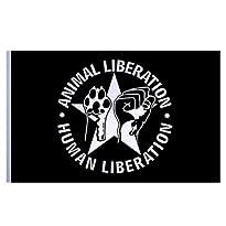 Flagge schwarz Motiv Animal Liberation (klassisch) 150x100 cm von Impact-Mailorder
