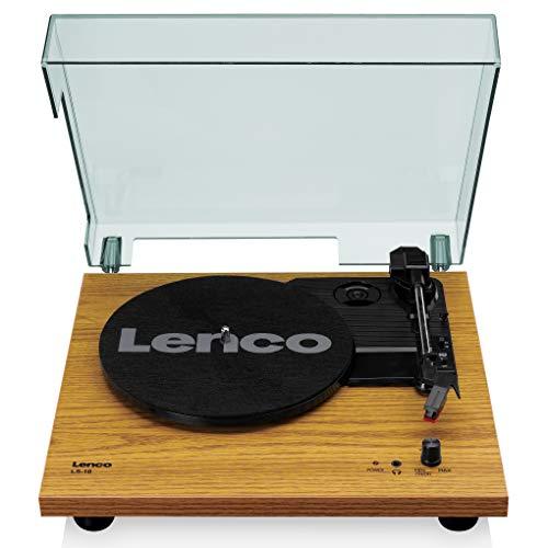 Lenco Plattenspieler LS-10 - Plattenspieler mit integrierten Lautsprechern - Holz