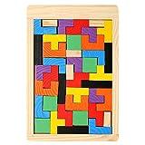 Garosa Rompecabezas para niños Juguete, no tóxico Bebé Seguro Tetris de Madera Rompecabezas Juguetes Niños Niños Niños pequeños Juego Educativo Juguetes para Jugar