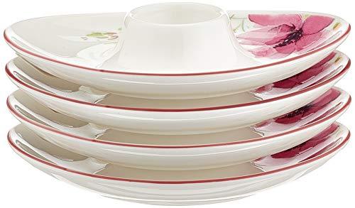 Villeroy & Boch Mariefleur Basic Premium Porcelaine, 4 x Coquetier, blanc, 13 x 13 x 14 cm, 4 unités de