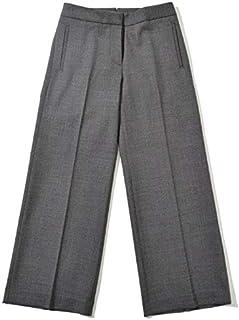 INCOTEX インコテックス [秋冬] パンツ CHIARA ダブルフェイス ストレッチウール セミワイド ベルトレス 9分丈