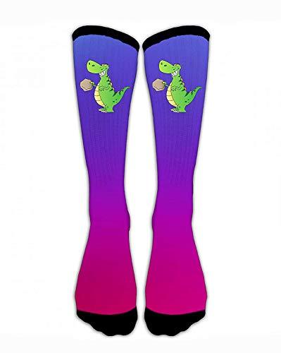 Kompressionssocken Dinosaurier Take Stone Crew Sock Crazy Socks Tube High Socks Personalisierte Neuheit Lustig Sport High Strümpfe für Teenager Jungen Mädchen