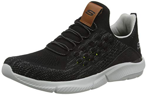 Skechers Ingram Streetway, Herren Slip On, Grau (Black Knitted Mesh Blk), 44 EU (9.5 UK)