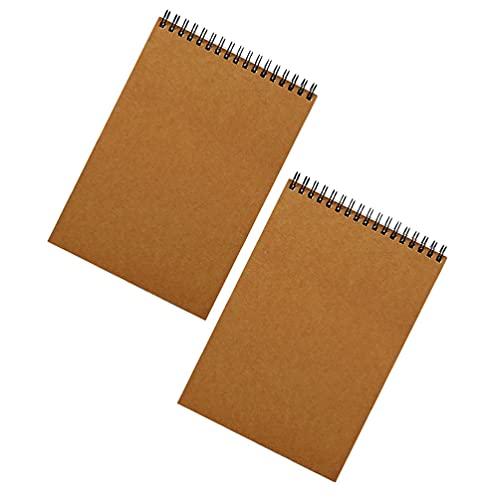 EXCEART Cuaderno Espiral de 2 Piezas Cuaderno de Viaje Bloc de Notas con Alambre Bloc de Notas Agenda Planificador para El Hogar Escuela Oficina Dibujo Y Escritura