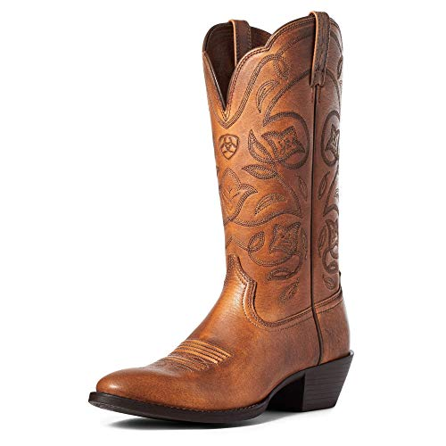 ARIAT Heritage R Toe Western Boot Copper Brown