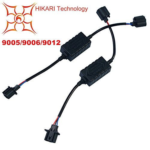 HIKARI PAIR LED Conversion Kit Headlight Canbus Error Free Anti Flickering Resistor Decoder - 9012/9005/9006