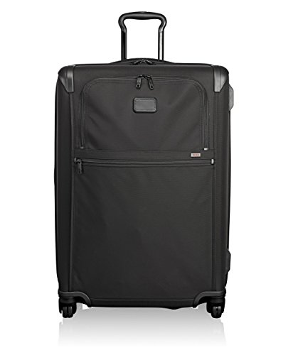 Tumi Medium Trip Expandable 4 Wheeled Packing Case Suitcase-Rolling Luggage for Men and Women, Black - Alpha 2