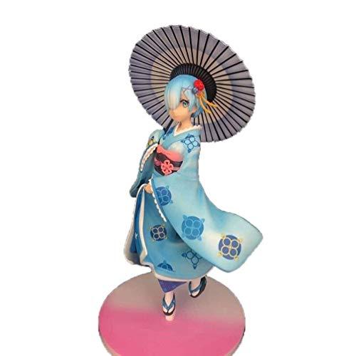 XIUYU Re Null beginnend Ram Pop Abbildung 2020 Jahr # 59 Serie Re: Null beginnt das Leben in Einer Anderen Welt Abbildung Japan Rem Re Abbildung Big Sonnenschirm PVC Boxed Geschenk Statue 22CM