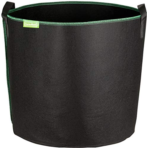 Photo of GardenMate 6-Pack 60 litres/16 gallons soft-sided plant pots – Grow bags with soft felt-like texture that promote air root pruning – GREENLINE