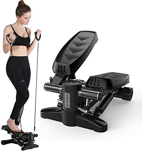 RTUHRJLXJ Startseite Fitness-Stepper, Mini-Stepper Fitness Aerobic Instructor, Abnehmbare Bodenmatten, 3D-Stoßdämpfern (Color : Black)