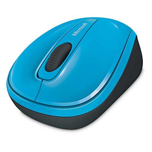 Microsoft Wireless Mobile Mouse 3500 (Maus, zyanblau, kabellos, für Rechts- und Linkshänder geeignet)
