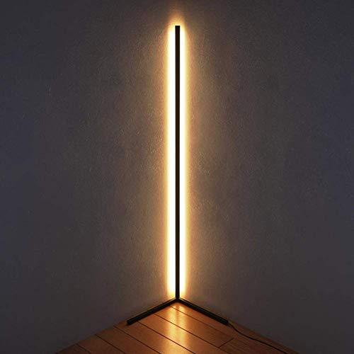 WLGQ Lámpara de pie de Esquina LED de Estilo nórdico Luces Decorativas Luz cálida Luz de Ambiente de pie Brillo Ajustable, para Restaurante Dormitorio Decoración de Sala de Estar