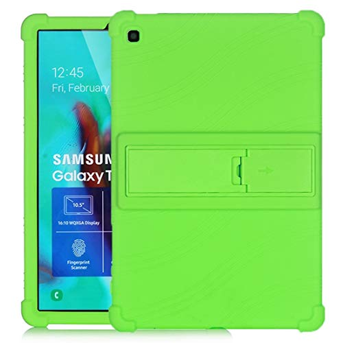 GLXC AYDD For Galaxy Tab S5e T720 Tablet PC Silicone Protective Case with Invisible Bracket (Color : Green)
