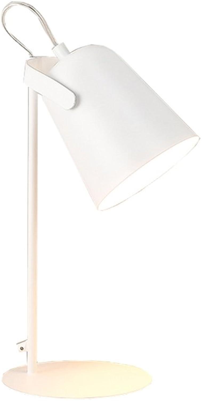 YMXLJF LED moderne Tischlampe Auge Beleuchtung Leselampe Büro Schlafzimmer Wohnzimmer lesen - reading desk lamp (Farbe   Wei)