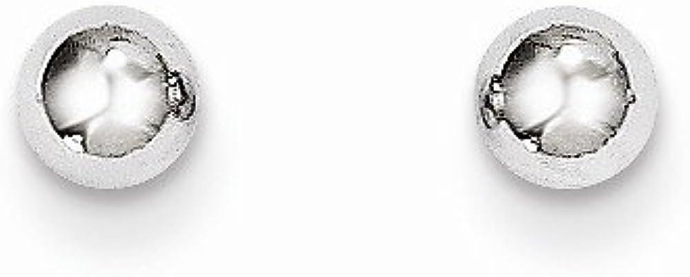 14k White Gold Madi K Polished 4mm Ball Post Earrings