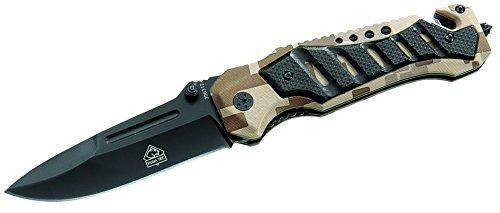 Puma TEC Unisex– Erwachsene Messer Einhand-Rettungsmesser Schlagdorn Länge geöffnet: 21.0cm, grau, M