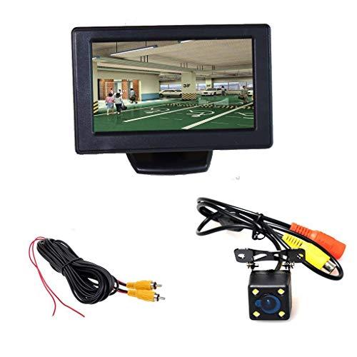 Auto Einparkhilfe Autoparksysteme, 4,3 Zoll LCD TFT Monitor + Wasserdicht 4-LED Nachtsicht Rückfahrkamera
