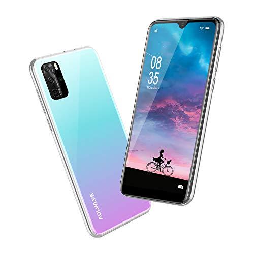 Teléfono Móvil Libres, 6,3 Pulgadas Android 9.0 Smartphone Libre 4G, 32GB ROM+3GB RAM,Moviles Libres Baratos Dual SIM, 8MP+ 5MP, Face ID GPS/WiFi/Hotspot Móviles y Smartphone Baratos Libres-Blanco